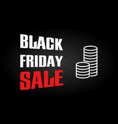 Black friday sale design template discount text vector