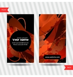 Colorful decorative business cards with free vector image