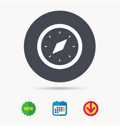 compass icon navigation device sign vector image