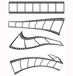 Film strips design vector