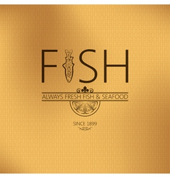 Fish seafood background vector