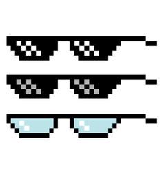 pixel glasses set vector image vector image