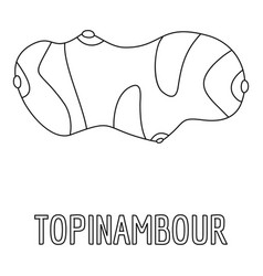 topinambour icon outline style vector image vector image