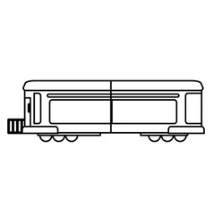 train transport wagon traditional outline vector image