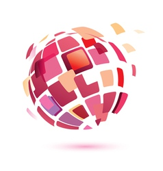 abstract globe symbol business icon vector image vector image