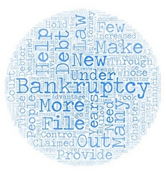 Bankruptcy Law Changes Designed To Hold Debtors vector image vector image