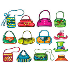 lady purses vector image vector image