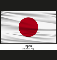 national flag of japan flag isolated on black vector image