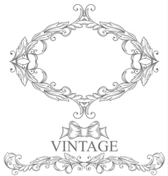 Vintage form vector image