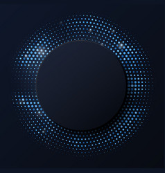abstract black background with retro blue neon vector image