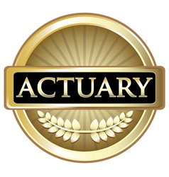 Actuary Gold Label vector image