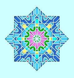 arabesque pattern vignette in eastern style vector image