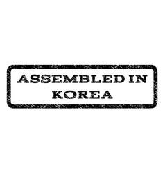 Assembled in korea watermark stamp vector