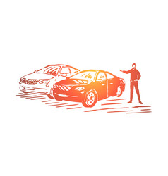 automobile sale business luxury vehicle showroom vector image