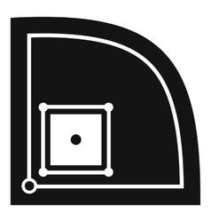 Baseball field icon simple style vector