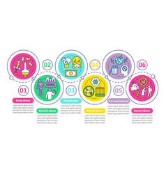 Behavioral problems infographic template drug vector