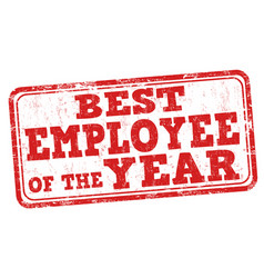 Best employee of the year stamp vector