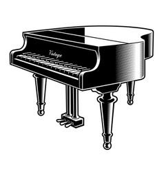 Black and white piano vector
