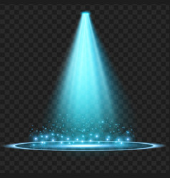 blue spotlight light effect vector image