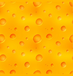 bright tasty yellow cheese seamless pattern vector image