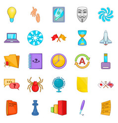 Broker icons set cartoon style vector