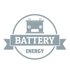 car battery logo simple gray style vector image