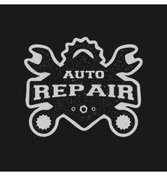 Car repair monochrome emblem vector