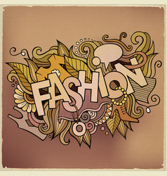 cartoon cute doodles hand drawn fashion vector image