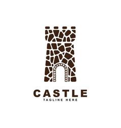 castle logo vector image