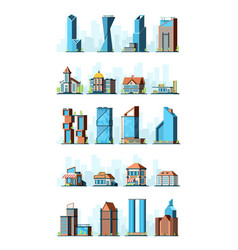 city infrastructure urban construction houses vector image