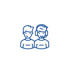 client support team line icon concept client vector image