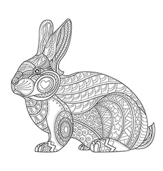 Coloring Page rabbit vector