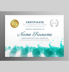Creative certificate template design with dots vector