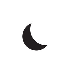 Crescent moon evening or nighttime line art for vector