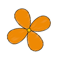 Cute flower isolated icon vector
