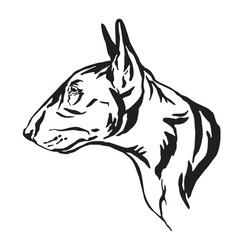 Decorative portrait bull terrier dog vector