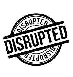 Disrupted rubber stamp vector