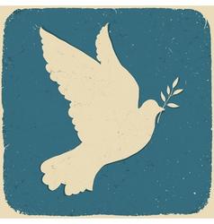 dove peace retro vector image
