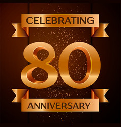 eighty years anniversary celebration design banner vector image