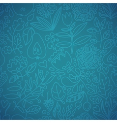 Endless floral pattern Wallpaper with leaves vector