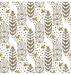ethnic seamless pattern with stylish trees vector image vector image