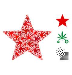 Fireworks star composition of marijuana vector