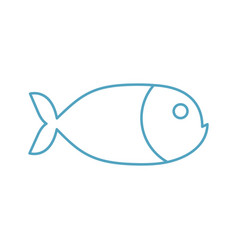 fish linear symbol marine animal sign isolated vector image