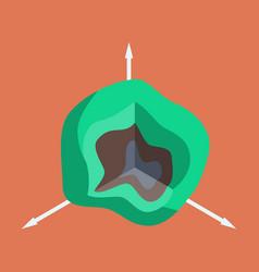 flat icon on stylish background graph vector image
