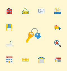 Flat icons bathroom depot property and other vector