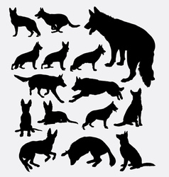 German shepherd pet dog silhouette vector