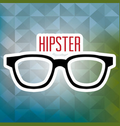 glasses style hipster poster vector image