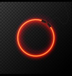 Glowing neon effect shining abstract circle vector