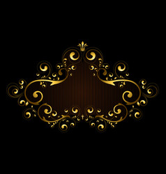 Gold frame with pattern of vector