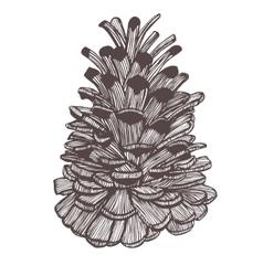 Hand-drawn cone vector
